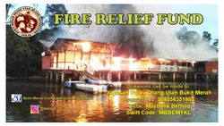 List logo banner fire relief fund