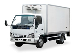 List logo refrigerated truck body