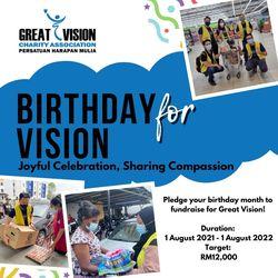 List logo birthday for vision promo poster