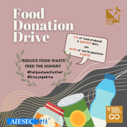 List logo food drive instagram post